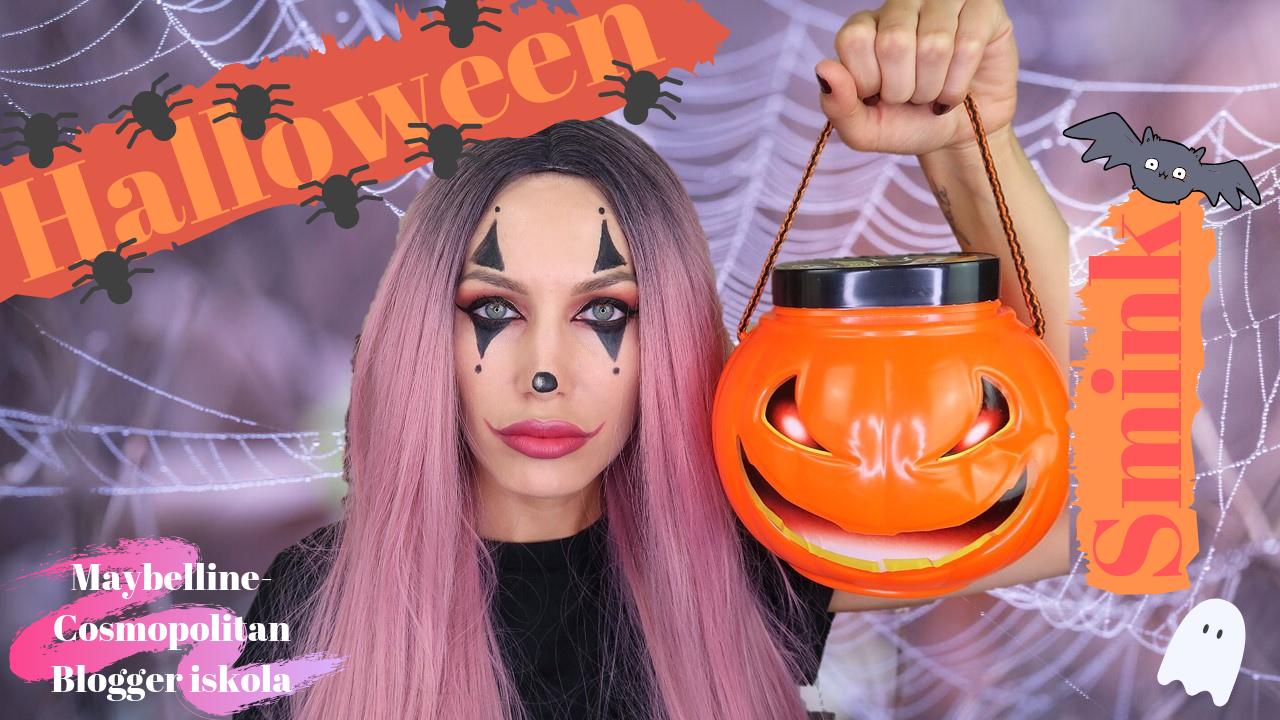 Egyszerű Halloween smink Maybelline termékekkel